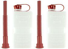 FUELFRIEND-PLUS CLEAR 1,5 Liter Klein-Benzinkanister Reservekanister + Füllrohr