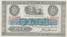 More details for p315c ireland ulster bank £1 banknote in good extremely fine or better 1956