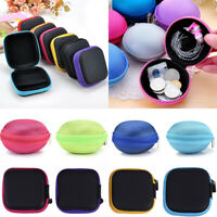 Multi Colors Earphone Case Storage  Pouch Box USB Cable Earbuds Mini Carry Bag