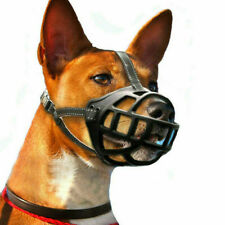 Adjustable Silicone Basket Dog Muzzle Breathable Anti Bite Size 2 Small Dogs