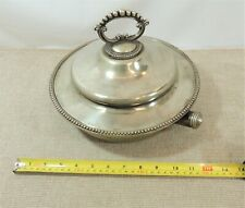 Vintage silver plated hot water warming dish.  | Thames Hospice
