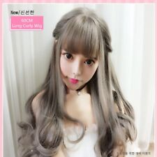 Japan Style Sweet Girl Wig Long Slightly Curly Hair Cosplay Lolita Thin Bang New