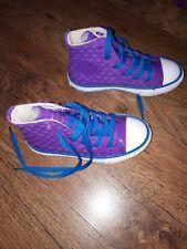 girls purple converse shoes size 10