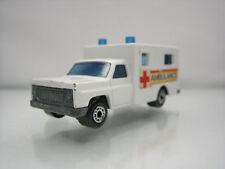 Diecast Matchbox Superfast Ambulance No. 41 White Good Condition