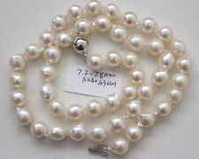 AAA+ 7.2-7.8MM JAPANESE AKOYA SALTWATER PEARL NECKLACE 43cm