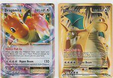 2x LOT Pokemon EVOLUTIONS Ex Full Art DRAGONITE 106/108 + 72/108 x2 ..