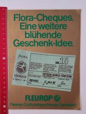 Aufkleber/Sticker A4: Fleurop Flora-Cheques (09041654)