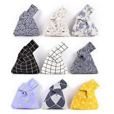 Grid Wave Flower  Knot Wrist Bag Mobile Phone Key Small Bag Handmade Square *ws