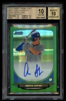 2013 Bowman Chrome Aaron Judge Green Rookie Refractor BGS 10 Auto 10 RC Pristine