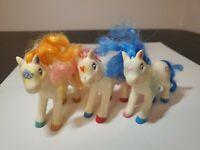 1994 LANARD Toy Horses lot  Of 3 MY LITTLE PONY FAKIES PLASTIC Vintage