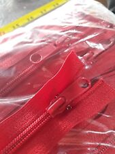"50 x 29"" red Nylon Open End 2-Way Two Way Nylon Zips No 5 Chain"