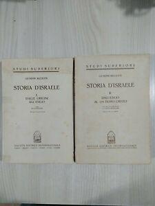 Libro Storia d'Israele In Due Volumi Di Giuseppe Ricciotti