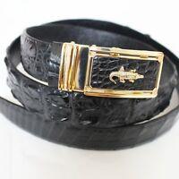 Men's Belt Genuine Crocodile Alligator Skin Leather Belt Handmade