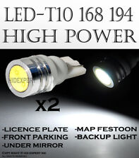 x4 pieces T10 Diamond White LED High Power License Plate Light Tag Bulbs R27