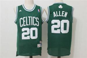 New Boston Celtics #20 Ray Allen Retro Swingman Basketball Jersey Green