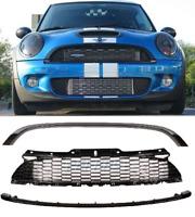 Mini Cooper S & JCW R56 R57 R58 R59 Gloss black front grille kit bumper bonnet