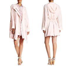 Equipment Rose Pale Pink Short Boven Silk Hooded Parka Coat SOLD OUT $398