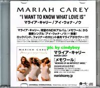 Mariah Carey I want to know what love is Japan Promo CD Memoirs Very rare