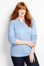 NWT Land's End Drifter Cable Half Zip Sweater Soft Blue 1X 16w - 18w