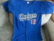 LOS ANGELES DODGERS #12 BOYS BLUE JERSEY SZ. Y-XL