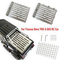 Metal Car Plate Board DIY Parts Upgrade Para Traxxas Benz TRX-6 G63 RC Crawler