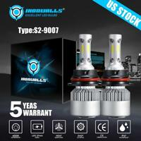 2PCS HB5 9007 CREE 1700W 255000LM LED Headlight Bulbs White 6500K HIGH/LOW Beam