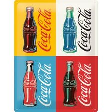 Coca Cola Collage Special Edition Blechschild Tin Sign 3D geprägt 30 x 40 cm