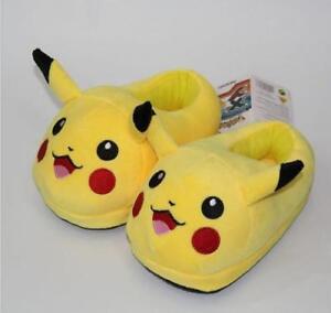 23cm Pikachu Plush Slipper Shoes Kid Stuffed Indoor Warm Gift