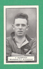 TEASDALE & CO. - EXTREMELY RARE FOOTBALL CARD  -  HAMPSON OF BLACKPOOL  - C 1925
