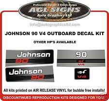 JOHNSON 90 HP V4 OUTBOARD DECAL KIT, REPRODUCTIONS ALSO IN 120 115 HP