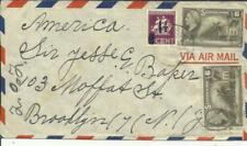 Suriname Sc#209(scarce on cover)#191(x2)#190(uncanceled on reverse) Paramaribo