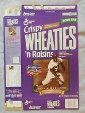 Jackie Robinson Dodgers 1947-1997 Crispy Wheaties 'n Raisins Cereal Box