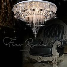 77381336 80cm Luxury Round Living Dining Room Hall Ceiling Light Crystal Glass