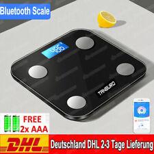 Bluetooth Personenwage Körperwaage Fitnesswaage Gewicht Waage BMI Analyse 180kg