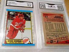Steve Yzerman GRADED CARD!!! 1989-90 Topps #83 Redwings HOFer!! 8.5-1