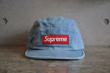 Supreme Side Zip Box Logo Camp Cap - Denim