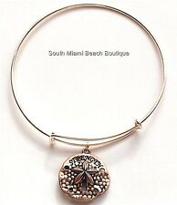 Rose Gold Sea Life Charm Bracelet Plated Starfish Sand Dollar Message Strength