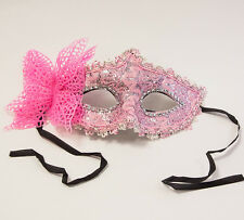 VENETIAN MASQUERADE BALL PARTY MASK LACE BUTTERFLY WITH TIES DESIGN D 5 COLOURS