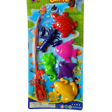 1 Set Magnetic Fishing Plastic 6 Fishes + 1 Rod Model Kids Baby Educational Toys