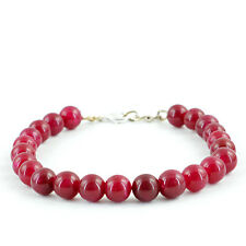 Shaped Rich Red Ruby Beads Bracelet Genuine Rare 134.85 Cts Earth Mined Round