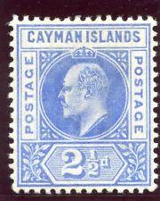 Cayman Islands 1902 KEVII 2½d bright blue MLH. SG 5. Sc 5.