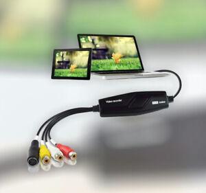 Hi8 VHS to Digital DVD Video Capture Card Converts for Windows Mac-Video Grabber
