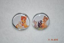 Snap Chunk metal Button Charm BAMBI charms for Leather Snap bracelets/18-19MM