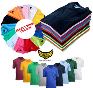 Polo :Mens Polo Shirts Premium Regular Fit Pique Work and causal Wear Plain Top