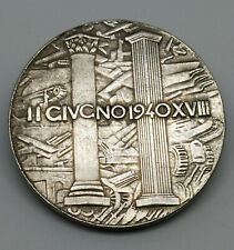 Piece Hitler 1940 2RM Reichsmark Coin Benito Mussolini ww2 German