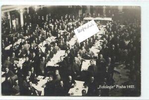 Prag  Veranstaltung 1927  original alte Fotokarte
