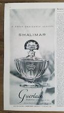 1951 vintage GUERLAIN Shalimar French perfume bottle fragrance classic ad