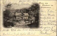 1900 Stempel RÖMHILD auf Gruss-Aus-AK Waldhaus Landbrunnen nach Wallendorf gel.