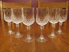 6 Lovely Cristal D'Arques Longchamp Crystal Cordial Glasses ~ Diamond Point