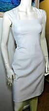 Review white fitted stretch sheath vintage style dress size 8